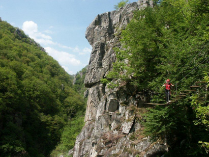 via ferrata en Aveyron